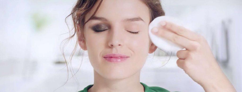 limpando a maquiagem